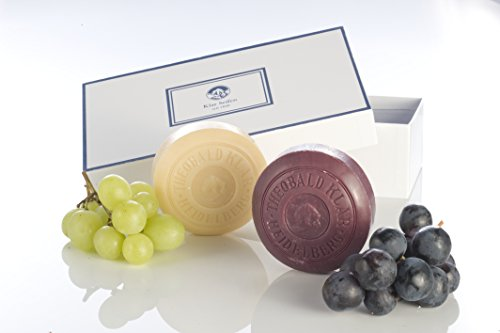 Klar Wine Soap Set - S p ä t b u r g u n d e r Pinot Noir Grape Red and Riesling White Wine - 150mg/ 5.29 Oz - Red G D And
