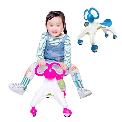 FongFong Kid's Ride On Balance Bike Children Mini Bike Sliding Pushing Sit-to-Stand Learning Walker for Baby Girls and Boys Learn to Walk and Keep Balance Ride Toys ()