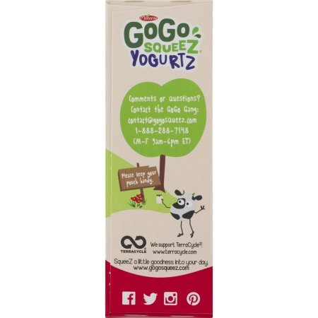 PACK OF 12 - GoGo Squeez Yogurtz Low Fat Strawberry Yogurt, 4 - 3 oz pouches by GoGo SqueeZ (Image #5)