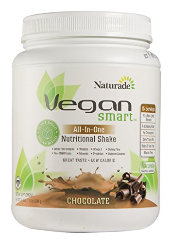 Naturade VeganSmart All-In-One Nutritional Shake – Chocolate 24.34 oz Vegan Meal Replacement