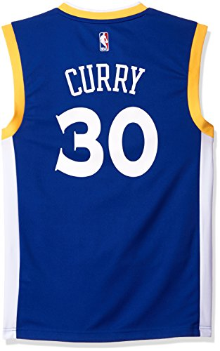 NBA Men's Golden State Warriors Stephen Curry Replica Player Stretch Jersey, 3X-Large, Blue
