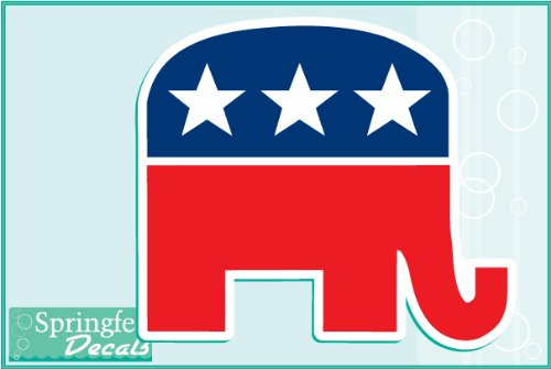 Elephant Decal Set - REPUBLICAN ELEPHANT #1 Vinyl Decals 2