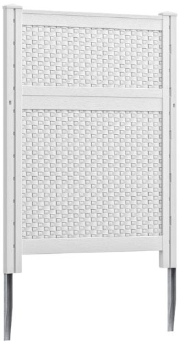 Suncast Blow Molded Resin Screen, White