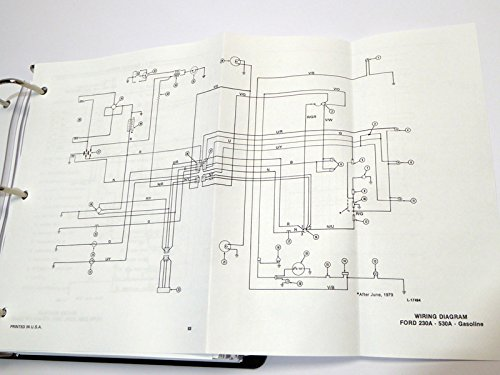 41NdaWkSjWL ford 230a, 340a, 445, 530a, 540a, 545 tractor service manual ford 1993 ford 545 tractor cab wiring diagram at creativeand.co