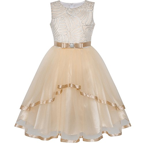 Flower Girl Dress Ivory Wedding Party Bridesmaid Dress