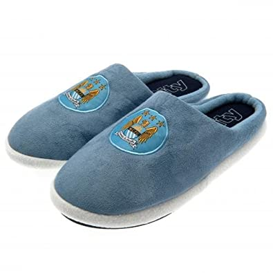 da15fc8ddc0 New Mens Manchester City FC Man C Football Mule Slippers Size 9-10   Amazon.co.uk  Shoes   Bags
