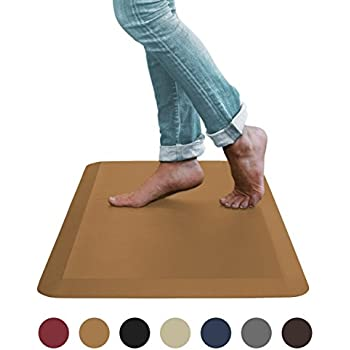 "Sky Mat, Comfort Anti Fatigue Mat 20 x 39 x 3/4"", 7 Colors and 3 Sizes, Perfect for Kitchens and Standing Desks, (Light Brown)"