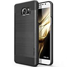Galaxy Note 5 Case, OBLIQ [Slim Meta][Titanium/Black] - Thin Slim Fit Bumper Metallic Polycarbonate Finish All Around Protection Hard Case for Note 5