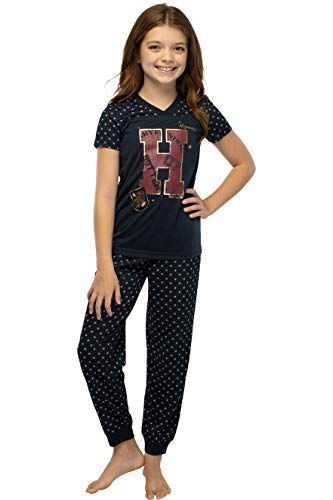 Harry Potter Girls' H is for Harry Gryffindor Athletic Shirt and Pants 2 PC Pajama Set Black