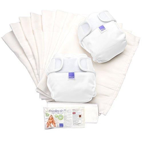 Bambino Mio, Miosoft Cloth Diaper Set, White, Size 2
