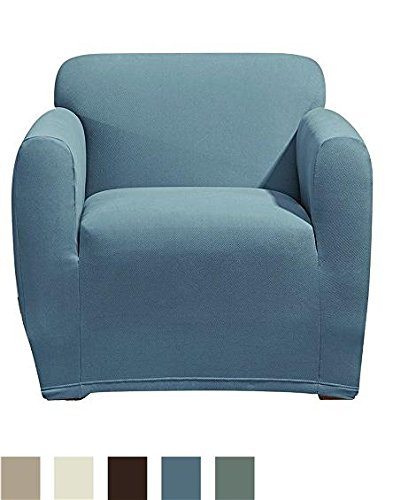 Merveilleux Sure Fit Stretch Morgan 1 Piece   Chair Slipcover   Storm Blue (SF45375)