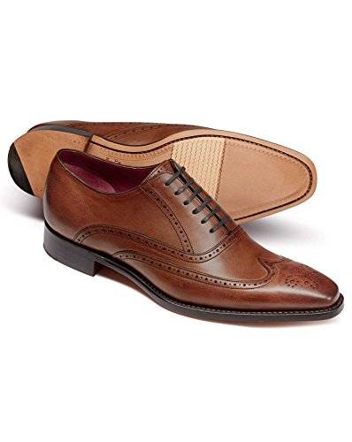 8 Semelle Made Oxford Beige Flexible Fleuri In Et England Chaussures À Châtaigne Bout 7AqgqZz1