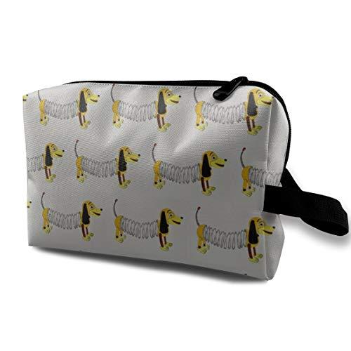 (Funny 3D Printing women cosmetic bag Slinky Dog_631 Travel Makeup Bags 4.9 x 6.3 x 10)