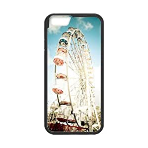 Diy Ferris Wheel Phone Case for iphone 6 Plus (5.5 inch) Black Shell Phone JFLIFE(TM) [Pattern-1]