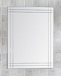 Basic Living Bathroom Mirror 100% Glass, Silver Plated, 31.5\