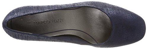 Metallic Blu Donna Scarpe Tozzi Marco Tacco 22426 con Navy Pwqaw8Tx
