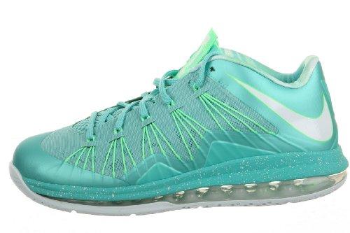 Nike Herren Air Max Lebron X Low Basketballschuhe Crystal Mint / Giftgrün / Fiberglas