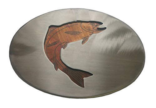 American Heritage Stainless Buckles Jumping Trout Belt Buckle - Jumping Trout
