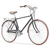 "sixthreezero Ride In The Park Men's 3-Speed Touring City Bike, 700x32c Wheels/ 18"" Frame, Grey, 18""/One Size"
