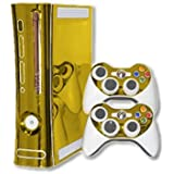 Microsoft Xbox 360 Skin (1st Gen) - NEW - GOLD CHROME MIRROR system skins faceplate decal mod