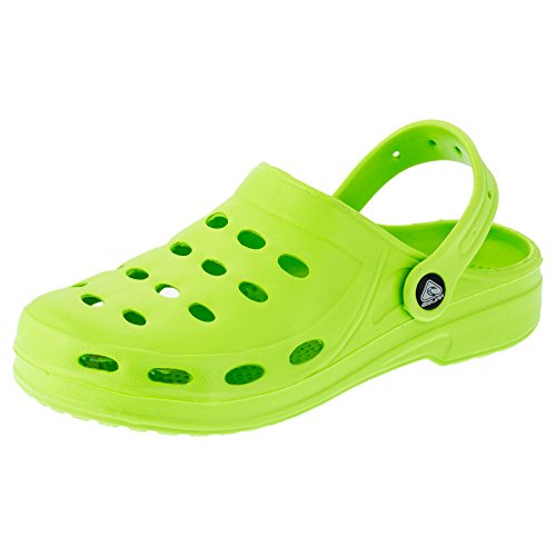 2Surf Damen Clogs Garten Schuhe Freizeit Pantoffel Strand Pool in Vielen Farben M194gn Grün