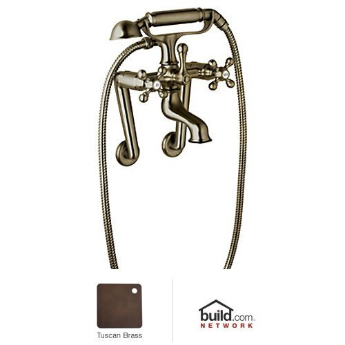 Rohl AC7X-TCB Cisal Exposed Tub Filler with Hand Shower And Metal Cross Handles Less, Tuscan ()