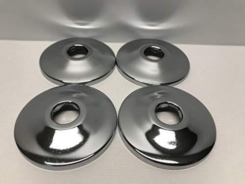 4-Pack Of SPS 1/2'' CTS Chrome Escutcheons, Pipe Flanges, Sure Grip Trim Plates, Metal, 5/8'' O.D.