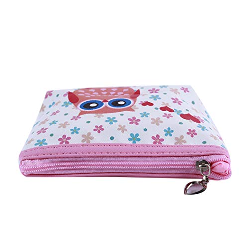 LZIYAN Cute Coin Purse Cartoon Owl Pattern Coin Purse Clutch Bag Portable Small Wallet With Zipper Storage Bag Creative Gift For Women,1# by LZIYAN (Image #3)