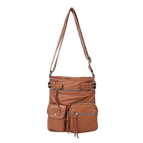 Marrone2 Bag Fashion Pu Cerniera Leather Tracolla Messenger Con Handbag A Kawaii Mini Shoulder Urbanistic Borse Borsa Smnyi Donna Unicolor Hotstyle wSA11qH