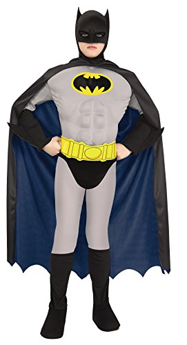 UHC Boy's Batman Muscle Outfit Funny Theme Fancy Dress TODDLER Halloween Costume, Toddler (2-4T) (Clown Mask Party City)