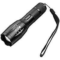 LED Flashlight, Hictech 1600 Lumens A100 Brightest Tactical Flashlight Outdoor Handheld Zoomable Flashlight with 5 Modes ,Adjustable Focus Torch , Water Resistant Lamp by Hictech