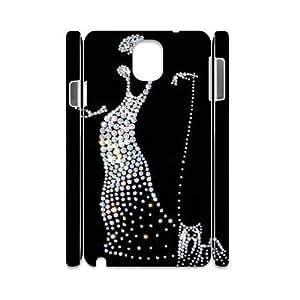 Silver Bling Custom 3D Cover Case for Samsung Galaxy Note 3 N9000,diy phone case dagongsi593257