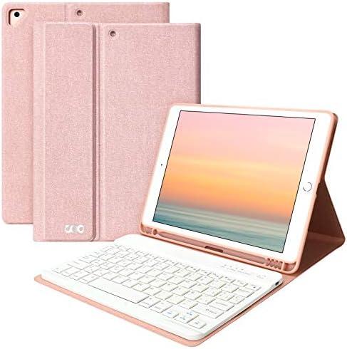 Teclado iPad 10.2 8th 2020 y 7th 2019 Funda, Funda con Teclado para iPad Air 3 10.5 2019/iPad Pro 10.5 2017 con Ranura de Lápiz,Teclado Español ...