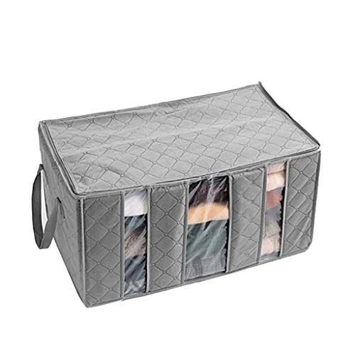 Foldable Storage Bag, Alalaso 3 Sections Perfect For Clothes Blankets Bedrooms 60×35×31cm