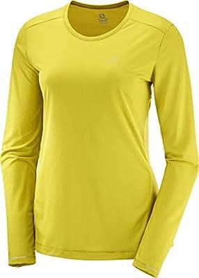 SALOMON Agile LS tee W Camiseta Deportiva de Manga Larga, Poliéster, Mujer, Amarillo (Antique Moss), M: Amazon.es: Deportes y aire libre