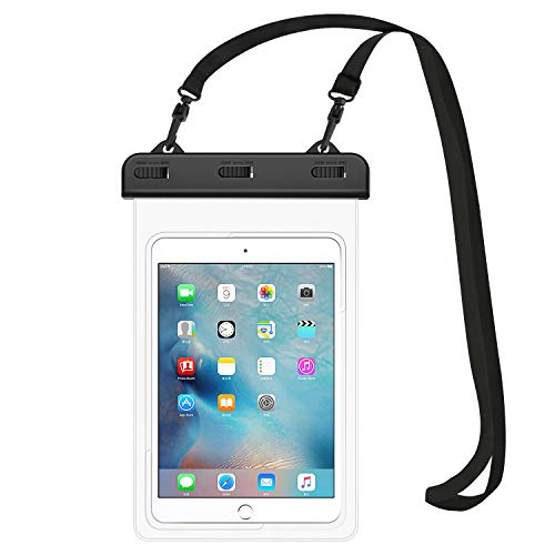 "MoKo Universal Waterproof Case, Tablet Dry Bag Pouch for iPad Mini 2019/4/3/2, Samsung Tab 5/4/3, Galaxy Note 8, Tab S2/Tab E/Tab A 8.0, LG G Pad III 8.0, Google Nexus 7(FHD) & More Up to 8.3"" - Clear"