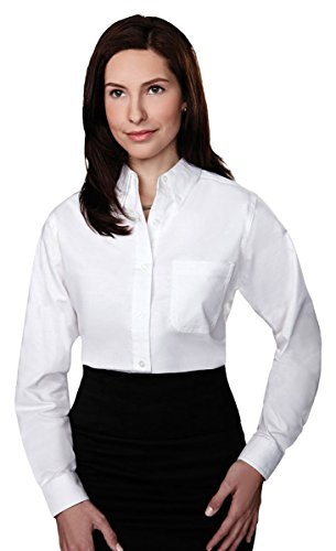 Button Down Stain Resistant Dress Shirt (Tri-mountain Womens 60/40 stain resistant long sleeve oxford shirt. 742TM - WHITE_XL)