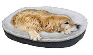 CPC Faux Suede and Cloudy Sherpa Pet Comfy Cup Bed, Large, Spa Blue