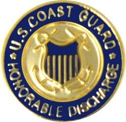 US Coast Guard Honorable Discharge Lapel Pin or Hat Pin ()