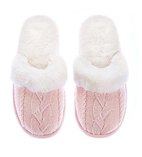 Price comparison product image Victoria's Secret Faux Fur Pink Cozy Slippers Large 9/10