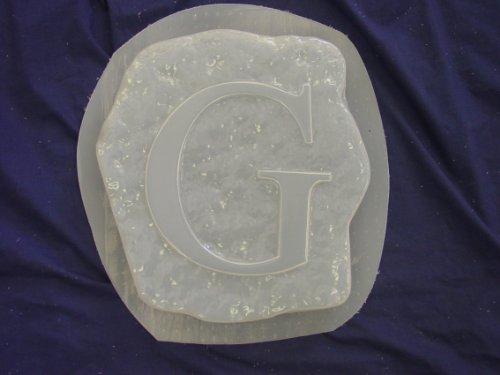 Alphabet Casting Mold (G Monogram Alphabet Letter Concrete Plaster Stepping Stone Mold)
