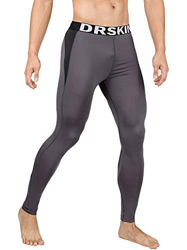 DRSKIN 1~3 Pack Men's Compression Dry Cool Sports Tights Pants Baselayer Running Leggings Yoga (Packs of 1, 2, or 3 Deals) (Came G-B05, 2XL)