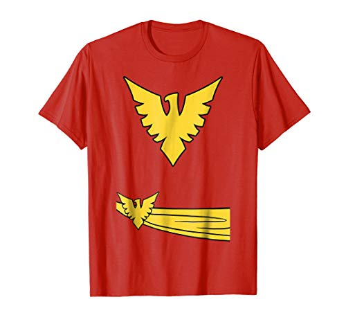 Marvel X-Men Phoenix Jean Grey Classic Comic Costume T-Shirt