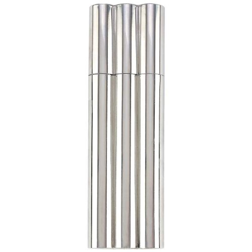Maxam 2 oz Stainless Steel Flask with 2 Cigar Tubes