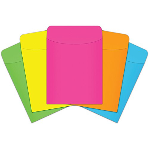 Top Notch Teacher Products TOP4025 Brite Color Peel and Stick Pockets, 5.3