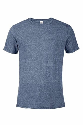 (Casual Garb Men's Snow Heather Fitted T Shirt Short Sleeve Crew Neck T-Shirts for Men Denim Large)