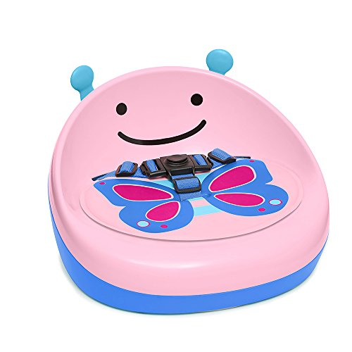 Skip Hop Zoo 3-Stage Lightweight & Portable Booster Seat Pink Butterfly