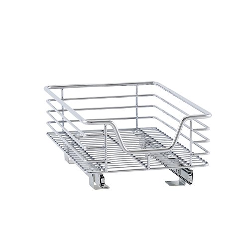 Household Essentials C1217-1 Glidez Sliding Organizer - Pull Out Cabinet Shelf - Chrome - 11.5 Inches Wide