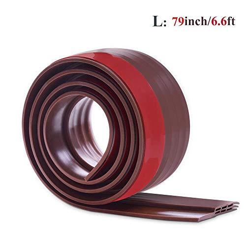 """79"""" Length Under Door Draft Stopper, Longer Door Blocker Seal for Warehouse , Garage , Office and Bedroom - 2"""" W x 79"""" L,(Brown)"""