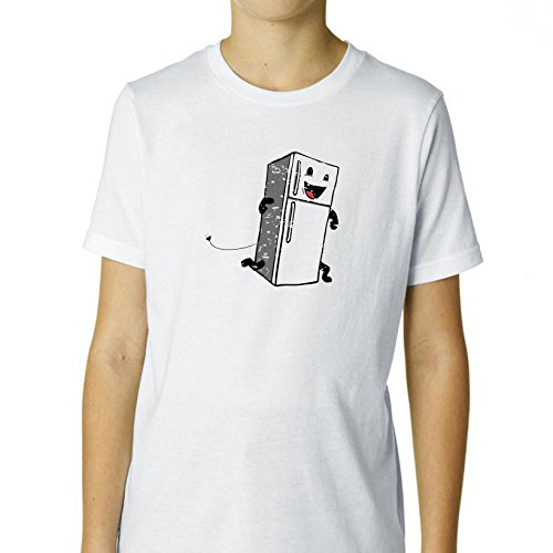 Price comparison product image Is Your Refrigerator Running - Fridge on the Run Boy's Cotton Youth T-Shirt